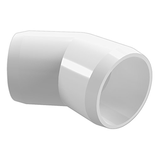 Formufit f e wh degree elbow pvc fitting