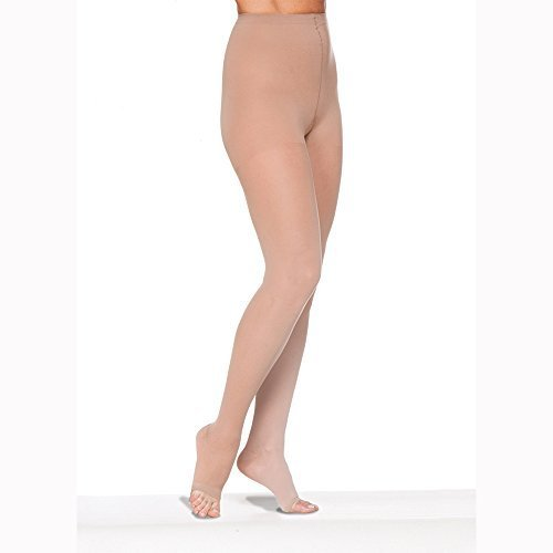 Sigvaris EverSheer 781PLLO36 15-20 Mmhg Open Toe Large Long Panty Hose For Women, Suntan by Sigvaris jetzt bestellen