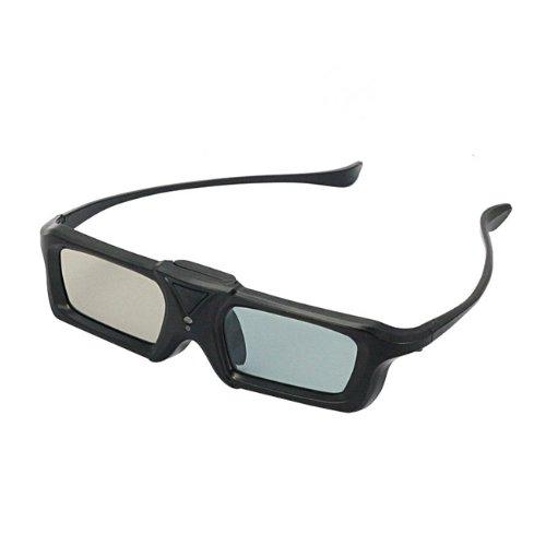 SainSonic Zodiac B921 Series Universal Button Battery Powered 3D Active Shutter Glasses for Sony, Panasonic, Toshiba, Sharp, Samsung 3D HDTVs **Black**