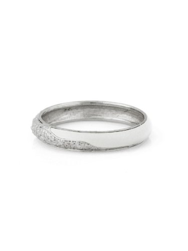 Belle Noel By Kim Kardashian Nugget and Leather Bangle - Palladium/Cream