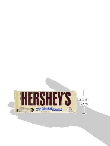 034000002399 - HERSHEY'S Extra Large Cookies 'n' Creme Bar (4-Ounce Bar) carousel main 4
