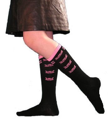Boutique Blvd Print Knee High Socks for WOMEN