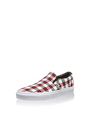 Vans Slip-On Classic (Blanco / Rojo / Negro)