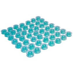 50 Husqvarna Viking Transparent Bobbins 4123078-G for Groups 5, 6, 7