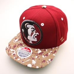FLORIDA STATE SEMINOLES SPLATTER ADJUSTABLE CAP by Zephyr