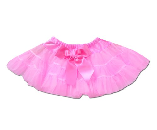 Little Girly Girl Pettiskirt Pink Tutu (Newborn, Hot Pink) front-564680