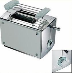 luxus toaster im edlen edelstahl glas design mit extrastarken 850 watt inkl led anzeige. Black Bedroom Furniture Sets. Home Design Ideas
