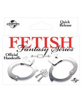 Fetish Fantasy Official Handcuffs, Silver