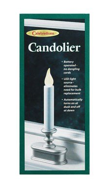 Led Christmas Window Candle With Light Sensor, Pewter