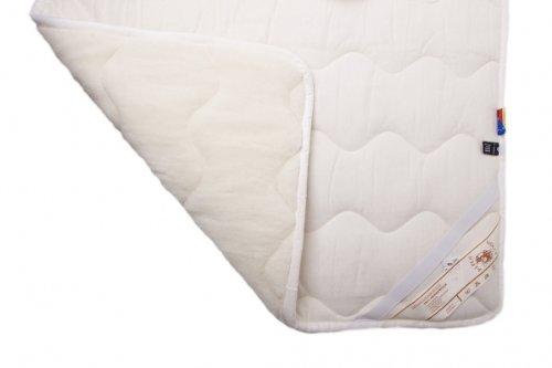 Unterbett, Naturhaarbett, Schonbezug, Auflagen, Merinowolle, Velour, 100% Wolle Größe: 200×200 günstig kaufen