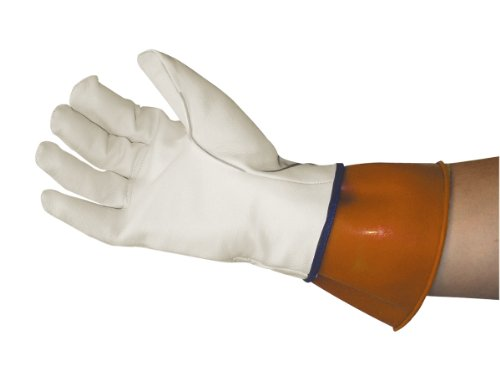 Sas Safety 6468 Leather Protective Over Gloves For Electice Service Gloves, Large