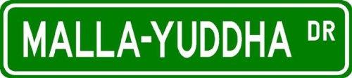 Malla-yuddha Street Sign ~ Martial Arts Gift ~ Aluminum