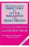 img - for International Directory of Little Magazines and Small Presses 1985-86 book / textbook / text book