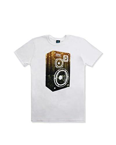 DEPHECT Camiseta Manga Corta Stereophonic Blanco