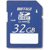 BUFFALO Class6 SDHCカード 32GB RSDC-32GC6