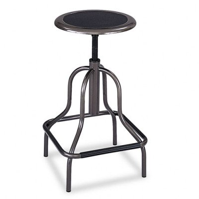 Safco Products Diesel High Base Chair Without Back, Pewter, 6665 front-871566