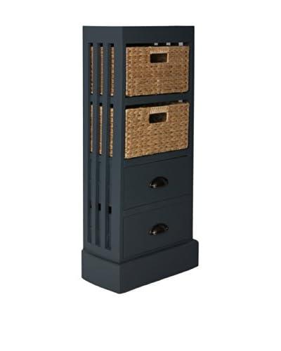 Gallerie Décor Nantucket 2-Drawer & 2-Basket Storage Unit, Gray