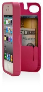Best Price Pink Case for Iphone 5 with Built-in Storage Space for Credit Cards/id/money, By EYN (Everything You Need)