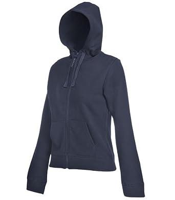 Plain blue hooded zip up sweatshirt
