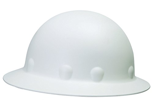 Fibre-Metal by Honeywell E1W01A000 Super Eight Full Brim Pin Lock Style Hard Hat, White (White Full Brim Hard Hat compare prices)