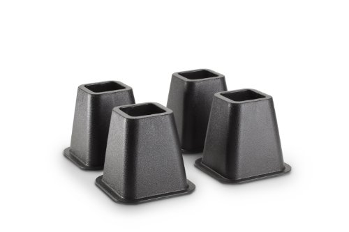 Purchase KENNEDY Home Collection 5 to 6-inch Black Bed Risers,4-pack (Stronger Support)