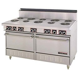 "Garland Ss684-36Gr Commercial Electric Range 60""W, 4 Burners, 2 Ovens, 36"" Griddle"