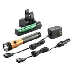 Stinger Ds Led Hl Rechargeable Flashlight - 120/Dc Piggyback Holder - Orange