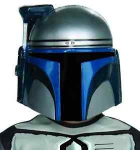 Jango Fett Mask Star Wars Bounty Hunter Halloween Deluxe Child Costume Accessory