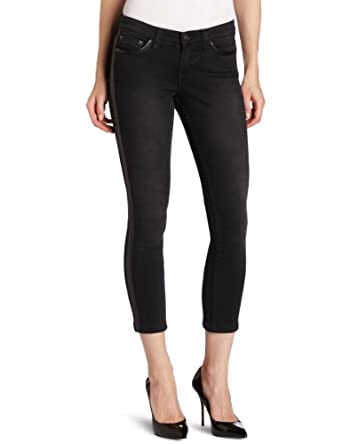 JET Corp Women's Skinny Cigarette Faded Jean, Faded Black, 2