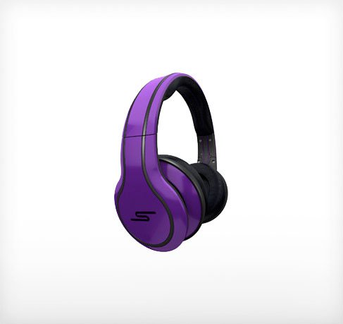 SMS STREET by 50 Cent Headphones (Purple)