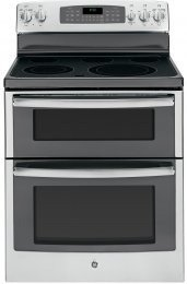"GE JB850SFSS 30"" Stainless Steel Electric Smoothtop Double Oven Range"
