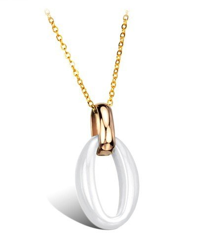 High Polished Women's Shining Tungsten Carbide Pendant Necklace Simple Korean Style