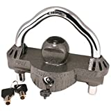 Trimax UMAX50 Premium Universal 'Solid Hardened Steel' Trailer Lock (fits all couplers)