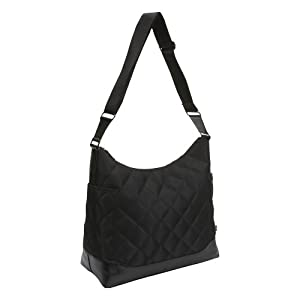 OiOi Black Quilted Hobo