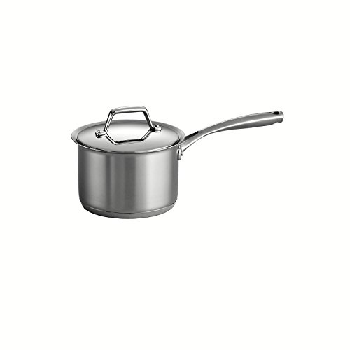 Tramontina Gourmet Prima 18/10 Stainless Steel Tri-Ply Base Covered Sauce Pan, 2-Quart