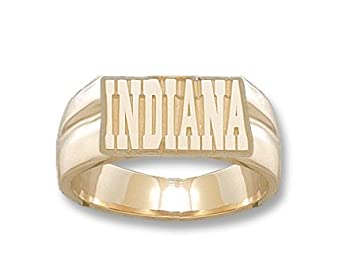Indiana Hoosiers Indiana 3 8 Mens Ring Size 11 - 14KT Gold Jewelry by Logo Art