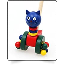 Generic Wooden Hand Frog Push And Pull Animal Toys Toddler Walker Accessories Children Kids Toy Car Outdoor Sports...