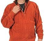 (ヴィンテージクラブ)VINTAGE CLUB 【大きいサイズ / 2L 3L 4L】メンズ モール ニット ミニ zip セーター