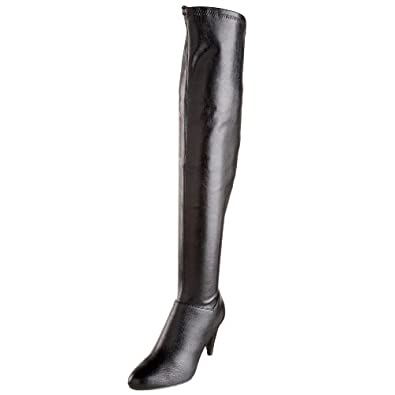 Chinese Laundry Women's Kingdom Goat Pu Over-The-Knee Boot,Black,6 M US