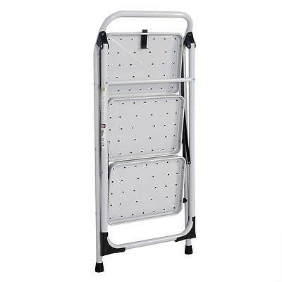 3 Step Lightweight Ladder HD Platform Foldable Stool 330 LB Cap. Saving Space