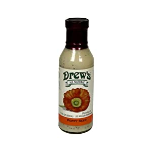 Drews All Natural Poppy Seed Dressing 12 oz. (Pack of 12)