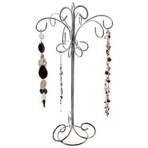 Présentoir ou Porte bijoux pour colliers et bracelets ou Chaîne - Gris patiné
