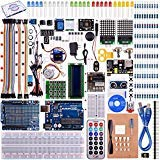 Kuman UNO R3 Project Complete Starter Kit with TUTORIAL for Arduino (66 Items) UNO R3 controller board, LCD1602, Servo, Stepper Motor for Arduino UNO Project