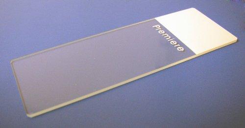 Premiere Brand Premium Painted End Microscope Slides, White (1 Box Of 72 Slides)