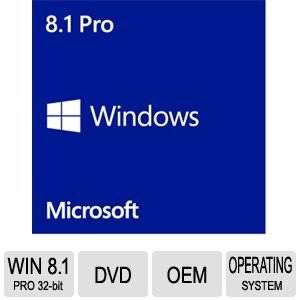 Windows 8.1 Pro System Builder OEM DVD 32-Bit