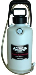 Motive Products Power Extractor Allows Easy Evacuation of Engine Oil, Transmission Fluid, Brake Fluid and other Fluids
