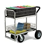 Charnstrom Medium Wire Basket Mail Cart With Caster Options