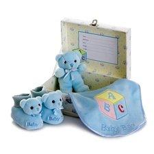 Aurora Plush Baby Boy Comfy Gift Set - 1
