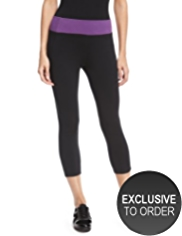 M&S Collection Active Performance Cotton Rich Cropped Joggers