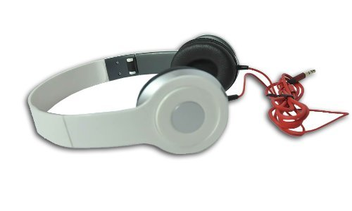 White 3.5Mm Foldable Stereo Headphone Earphone Headset For Dj Psp Mp3 Mp4 Pc